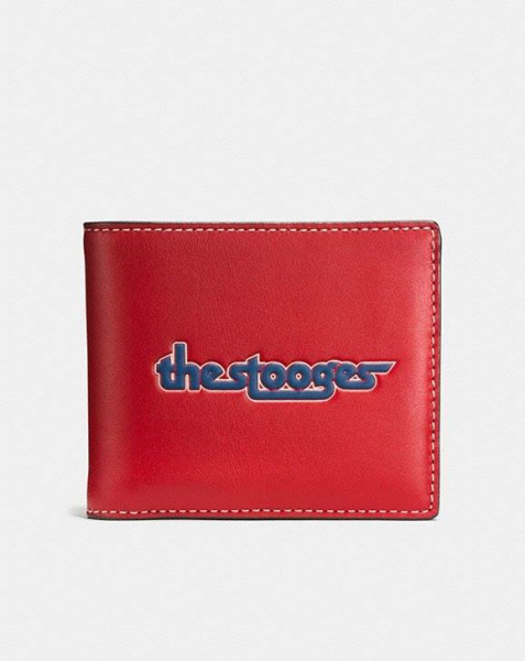COACH  3-In-1 Wallet In Glovetanned Leather With The Stooges 1941 RED