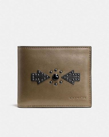COACH Western Rivets 3-In-1 Wallet In Sport Calf Leather FATIGUE