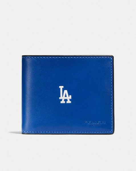 COACH  3-In-1 Wallet In Sport Calf Leather With Mlb Team Logo LA DODGERS
