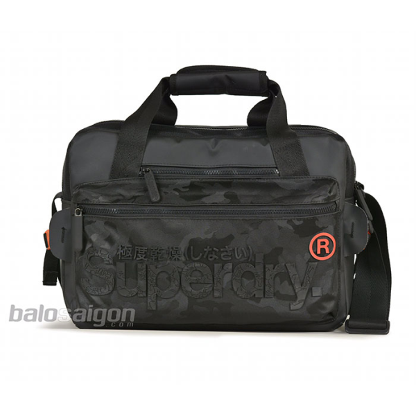 Superdry Buff Tarp Backpack Black White