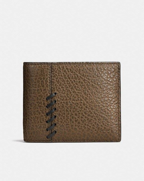 COACH  Rip And Repair 3-In-1 Wallet In Buffalo Embossed Leather FATIGUE