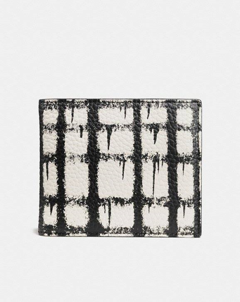 COACH 1941 3-In-1 Wallet In Wild Plaid Print Leather WILD PLAID SOFT WHITE/BLACK